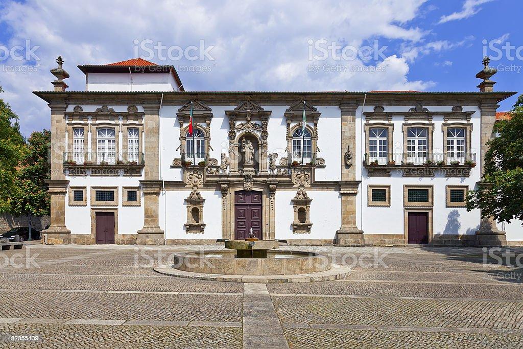 Guimaraes City-Hall in the former Santa Clara nunnery building stock photo