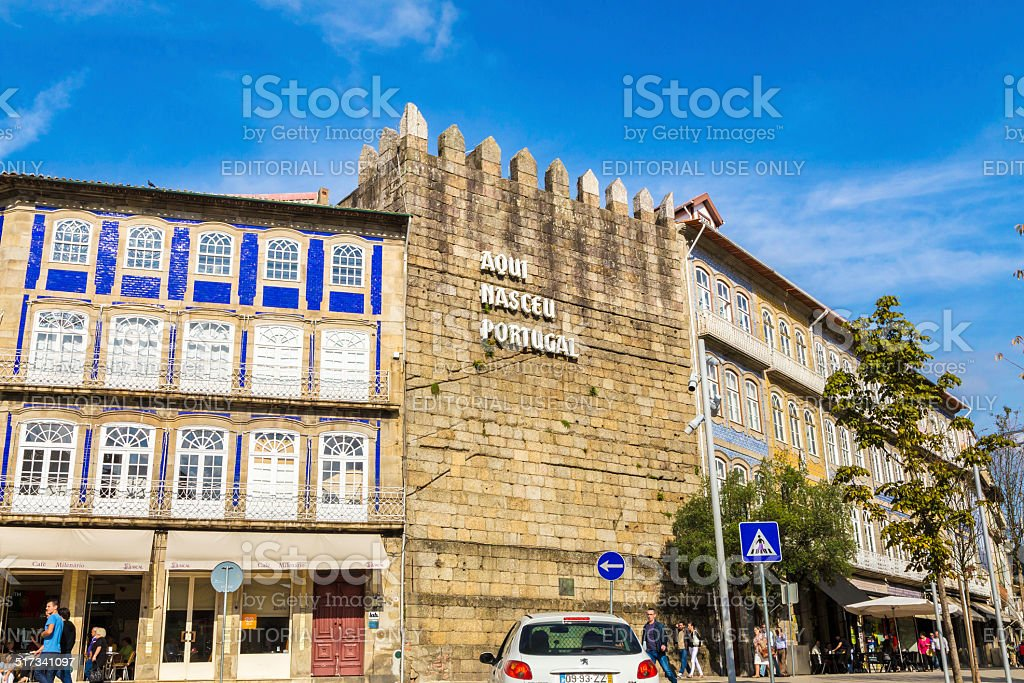Guimarães city, the birthplace of Portugal stock photo