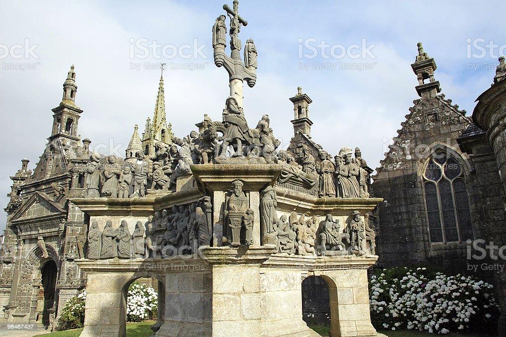 Guimiliau (Brittany, France) - Calvary royalty-free stock photo