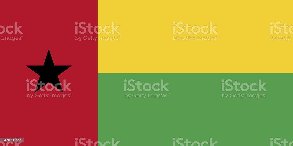 Guinea Bissau Flag royalty-free stock photo