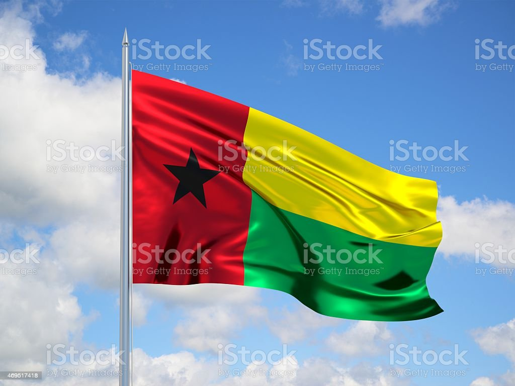 Guinea-Bissau 3d flag stock photo