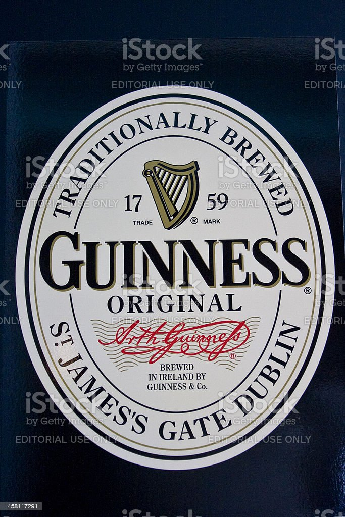 Guinness logo stock photo