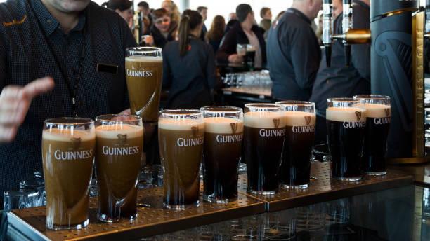 Guinness pints stock photo