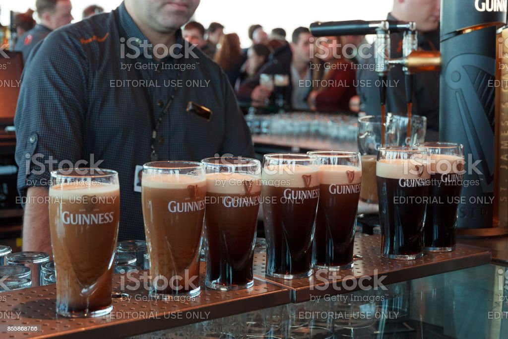Guinness pints stock photo