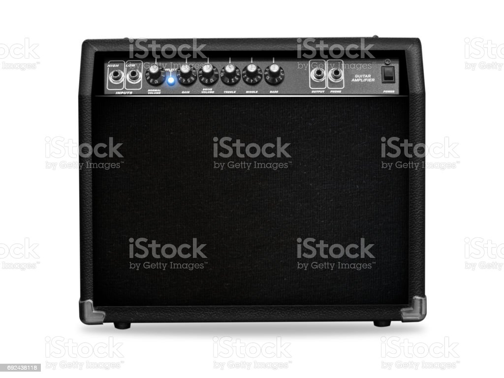 guitar amp paintings stock photo