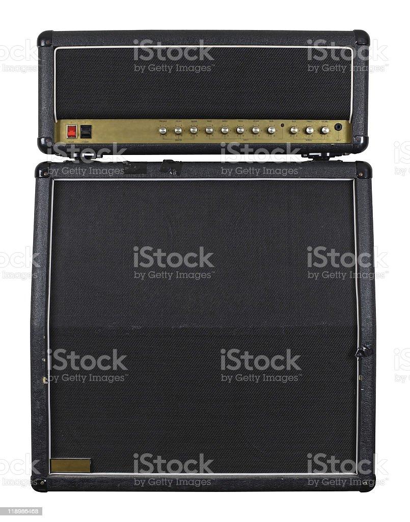 Guitar amplifier combo stock photo