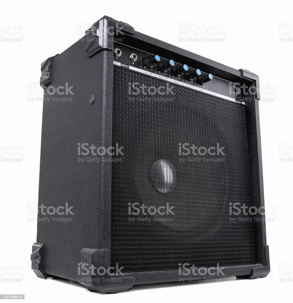 Guitar amplifier. Contains clipping path stock photo