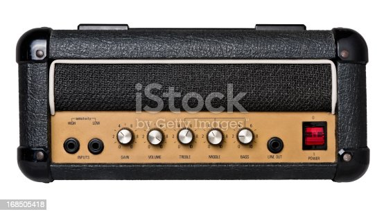 istock Guitar Amplifier Head Isolated on White (Clipping path) 168505418