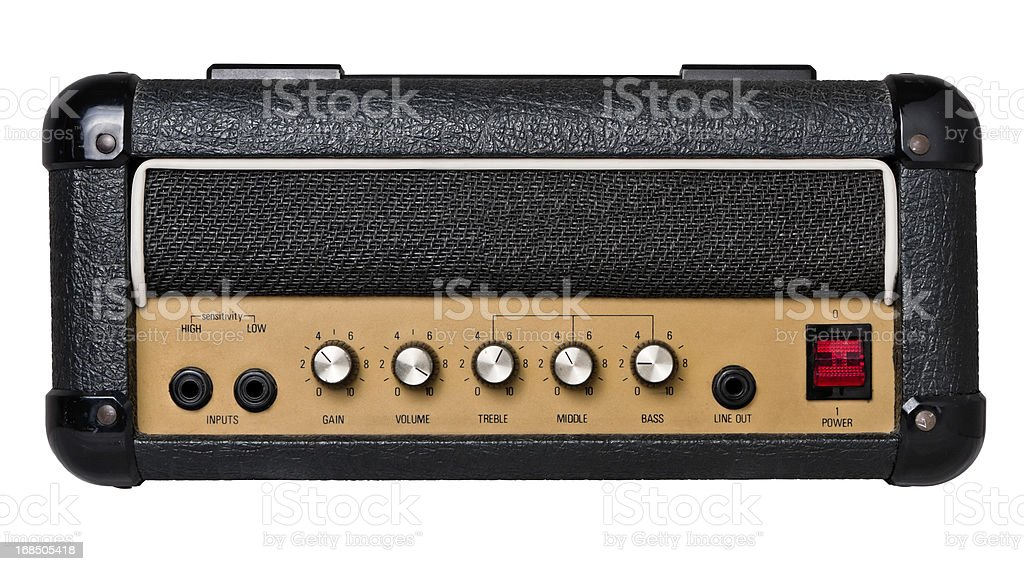 Guitar Amplifier Head Isolated on White (Clipping path) stock photo