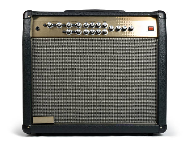Guitar amplifier stock photo