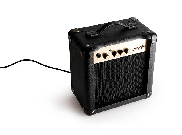 Guitar Amplifier with clipping path. stock photo