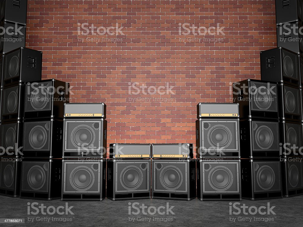 Guitar amps royalty-free stock photo