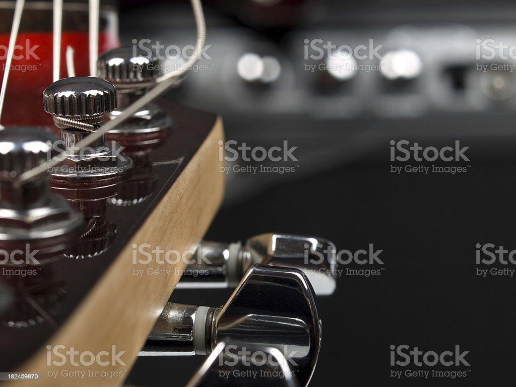 Amplificador de la guitarra y foto de stock libre de derechos