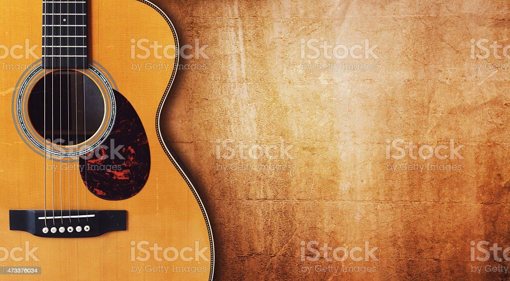 Guitare et fond grunge vide - Photo