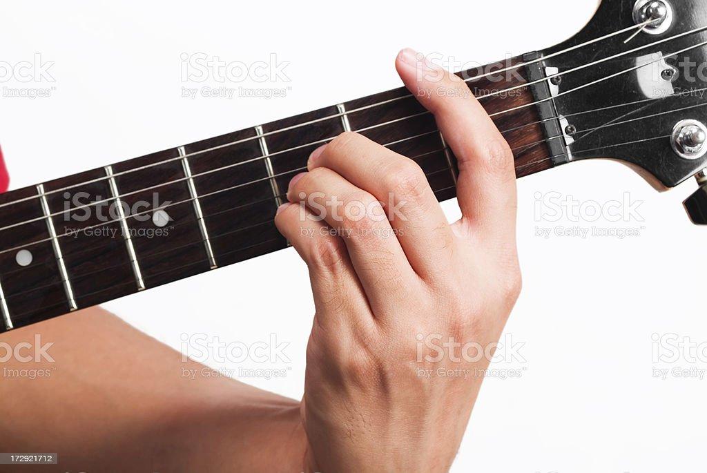 Guitar chord B royalty-free stock photo