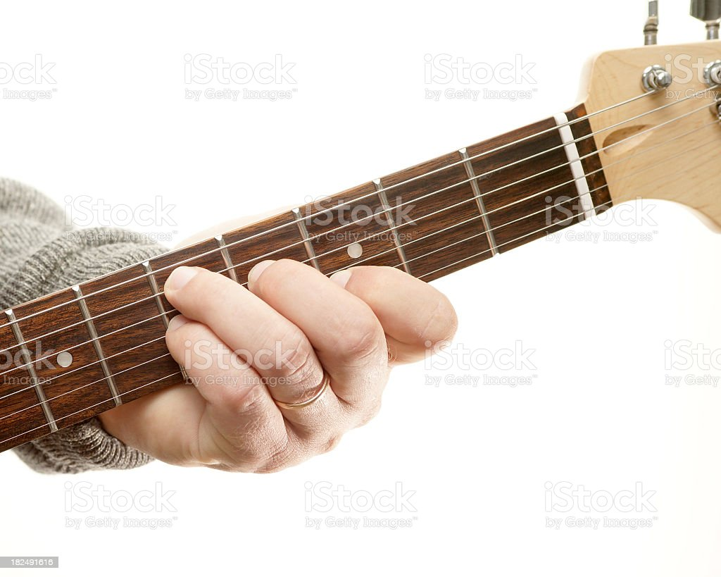 Guitar Chords Series Movable Seventh Chord D7 Position Stock Photo