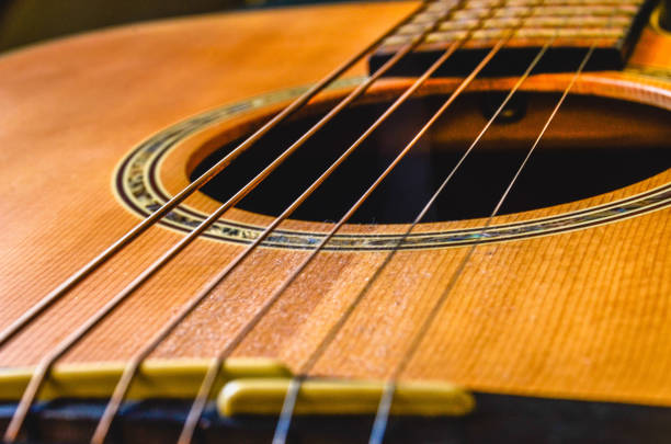 Guitar Close Up Guitar Close Up string instrument stock pictures, royalty-free photos & images