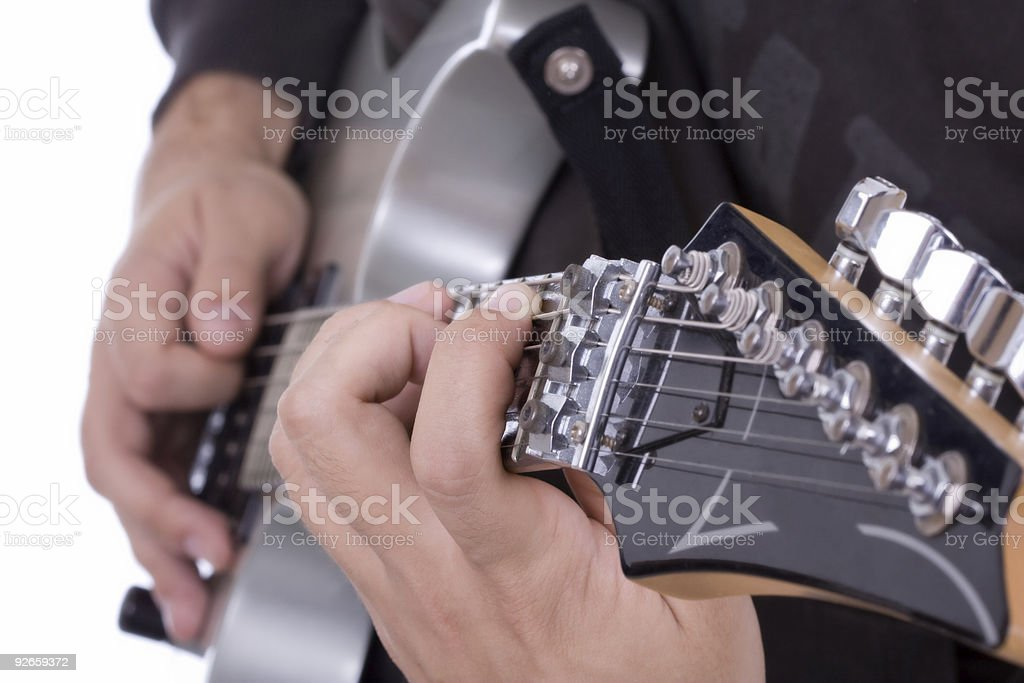 Guitar close up royalty-free stock photo