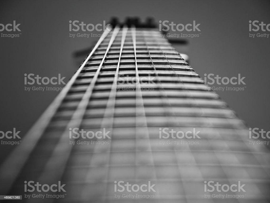 Guitar close-up. stock photo