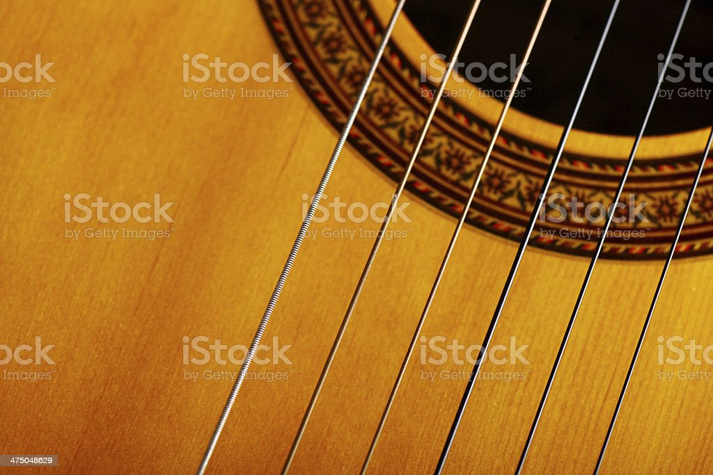 Guitar detail stock photo