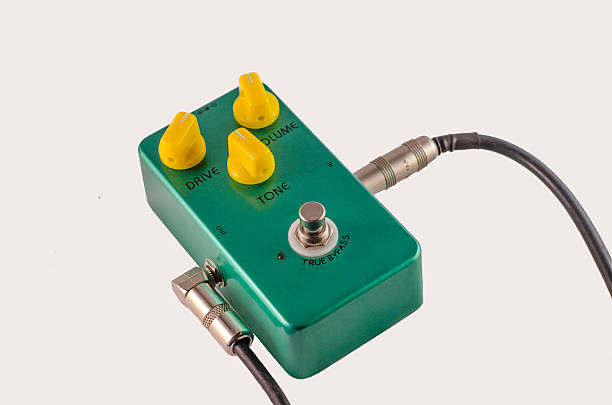 Guitar Distortion Pedal FX stock photo
