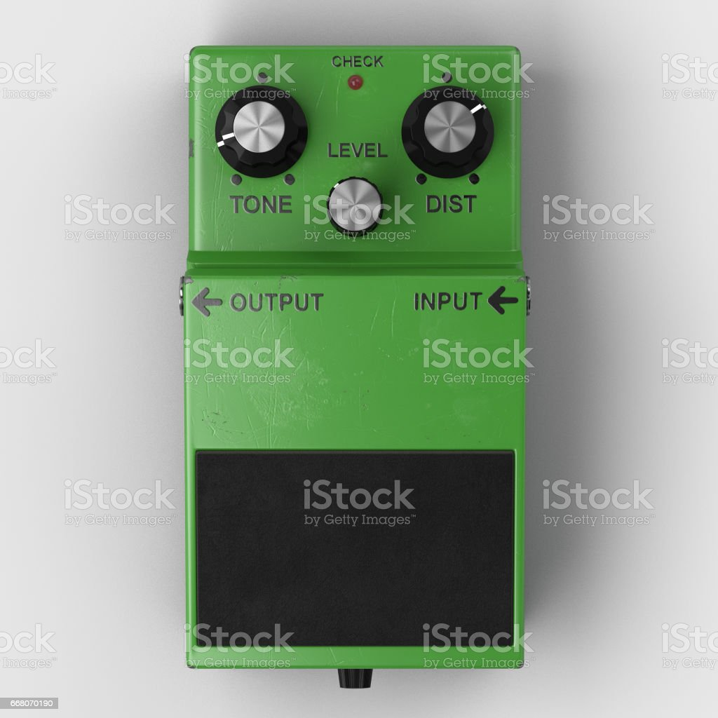 Guitar effects pedal blank stock photo