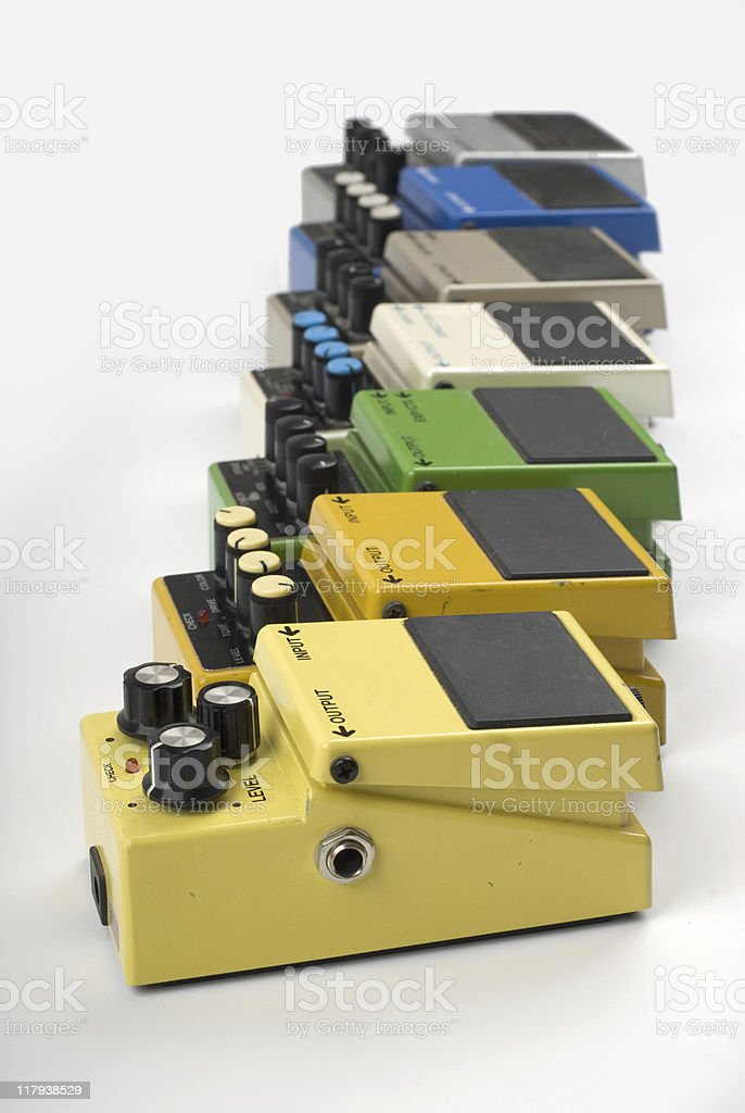 Guitar effects pedal royalty-free stock photo