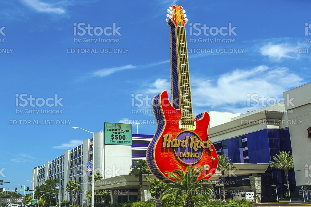 Guitar emblem of Hard Rock Casino in Beloxi stock photo