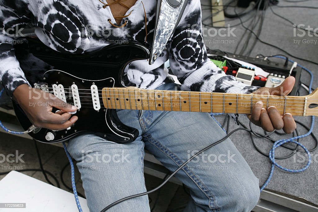 guitar funky musician royalty-free stock photo