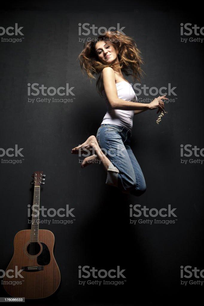 Guitar girl royalty-free stock photo