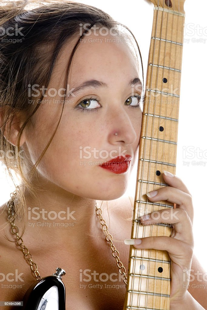 guitar girl royalty-free stock photo
