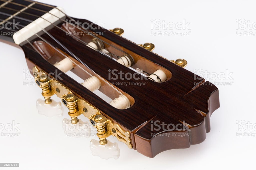 Guitar Headstock royalty-free stock photo