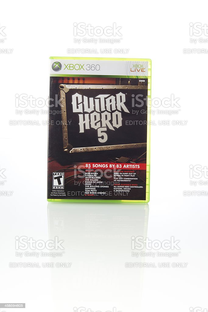 Guitar Hero 5 Xbox 360 Video Game Stock Photo & More