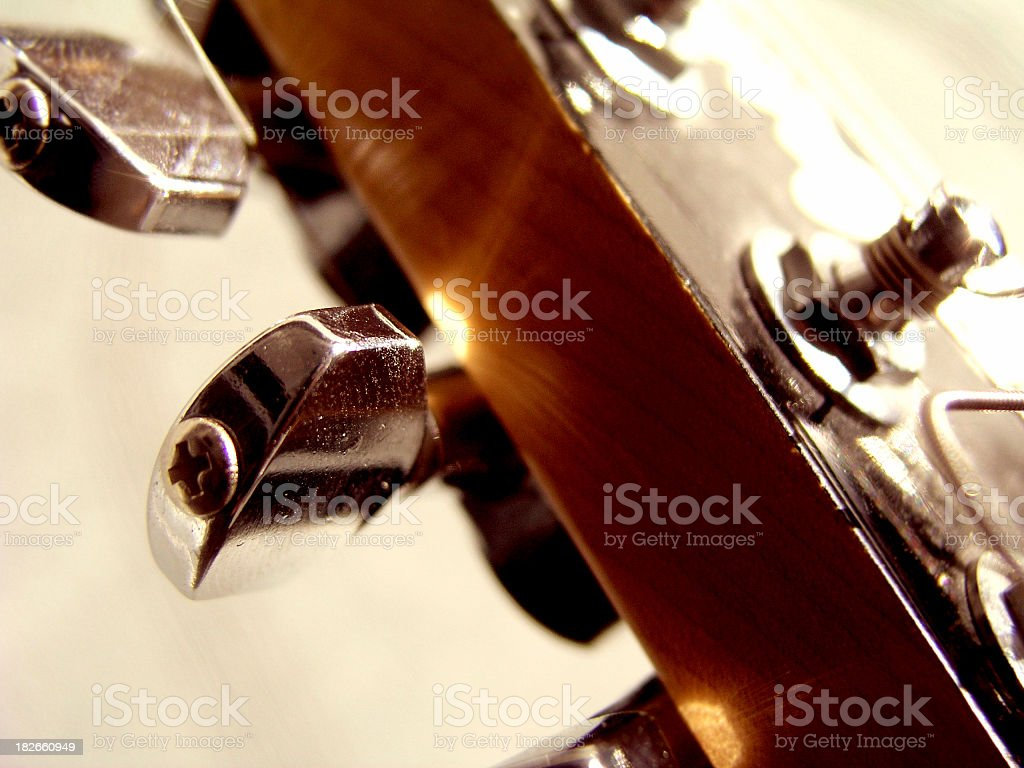 Guitar in a sun royalty-free stock photo