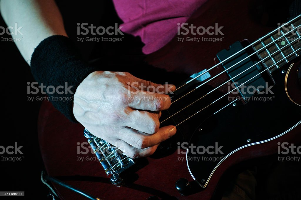 Guitar in hands royalty-free stock photo