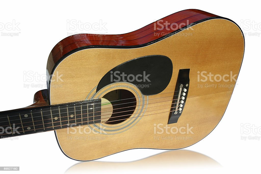 Guitar isolated with clipping path royalty-free stock photo