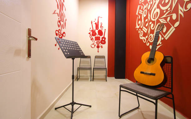 Guitar Learning Room at the Music School