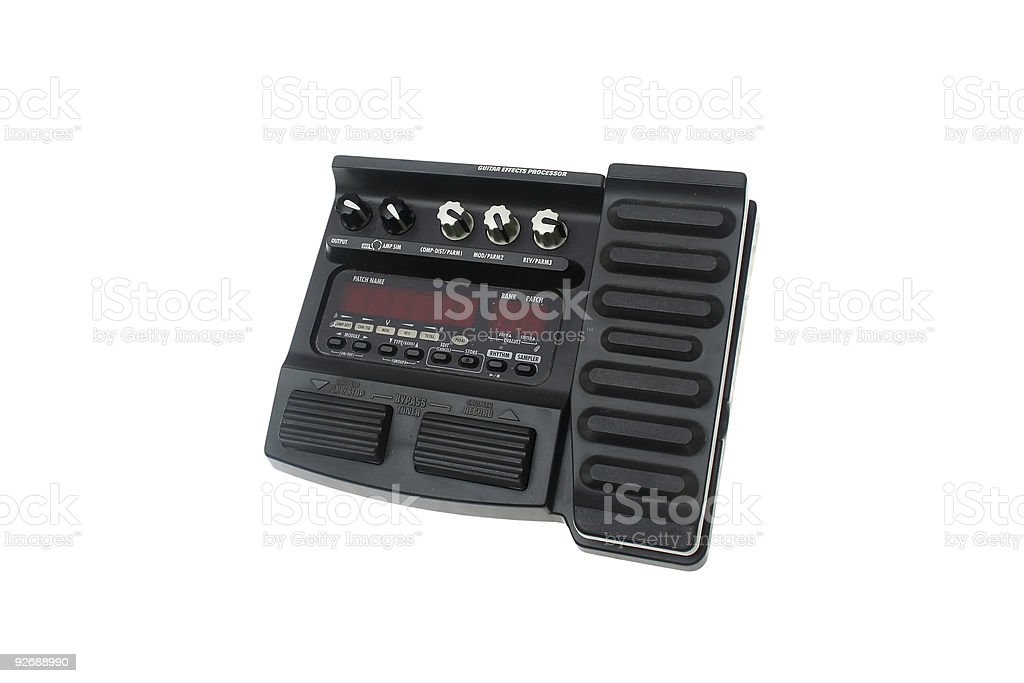 Guitar multi effects pedal isolated stock photo