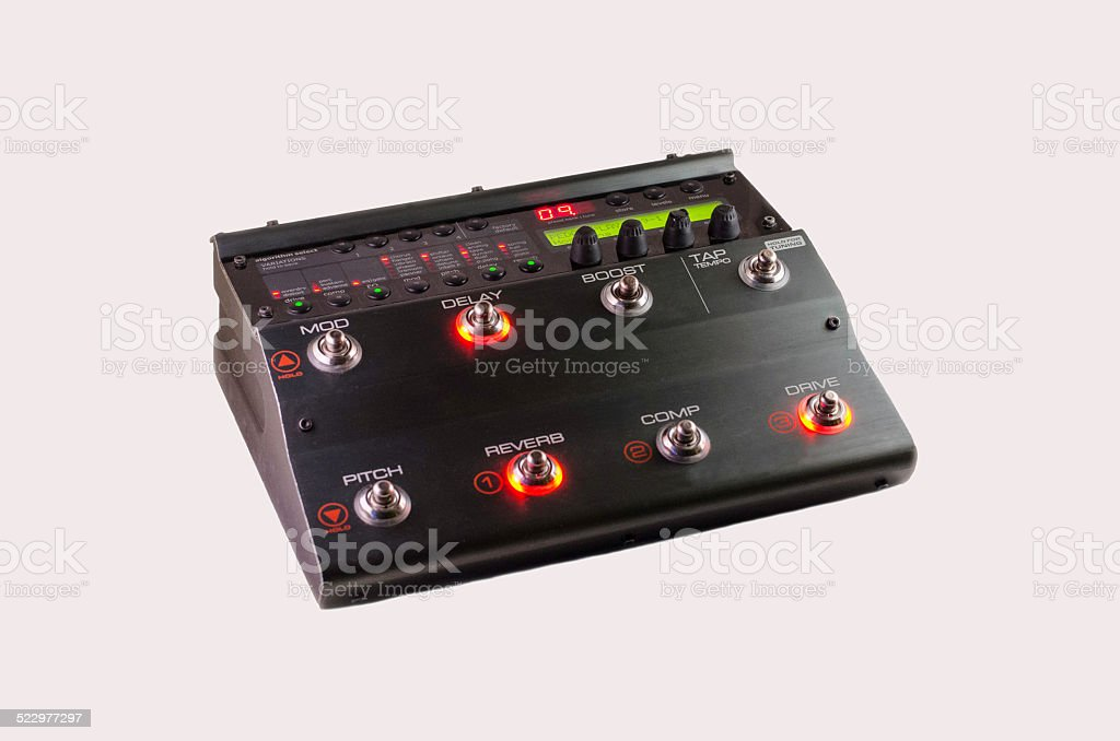 Guitar Multi Effects stock photo