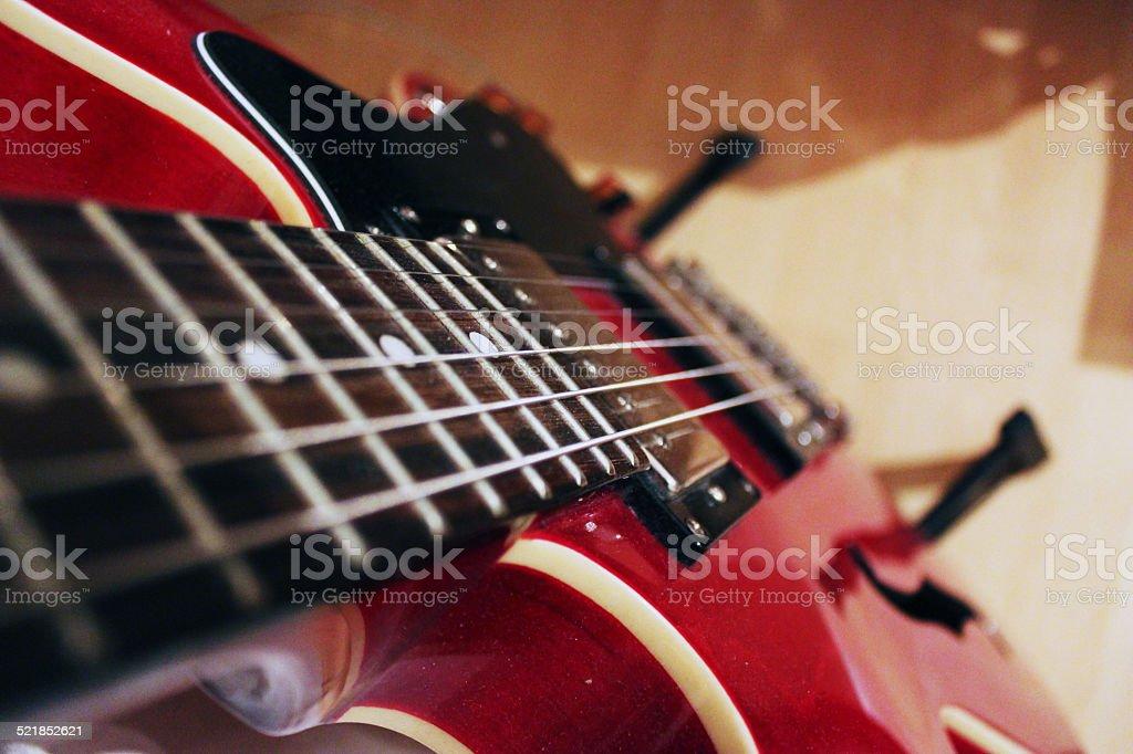 Guitar Neck & Body stock photo