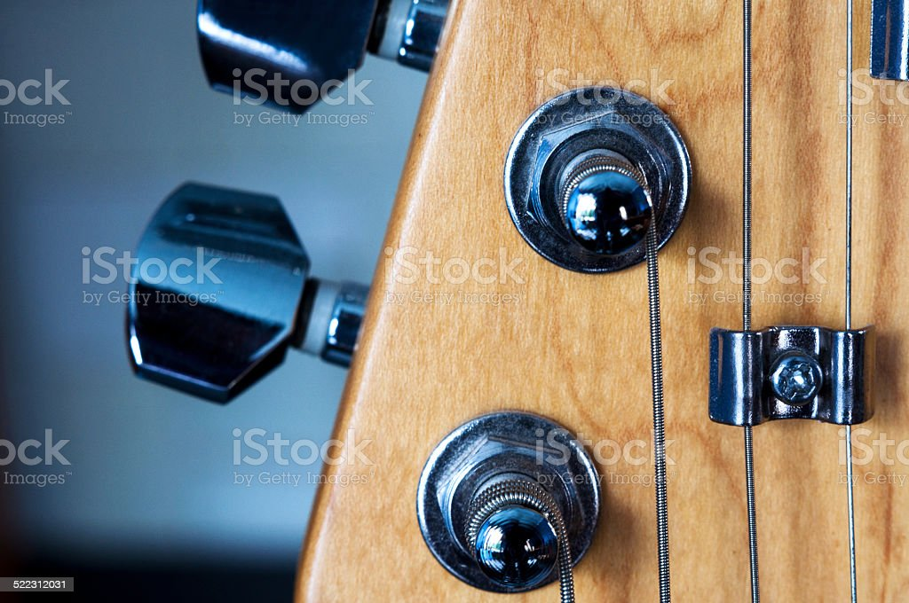 Guitar neck stock photo