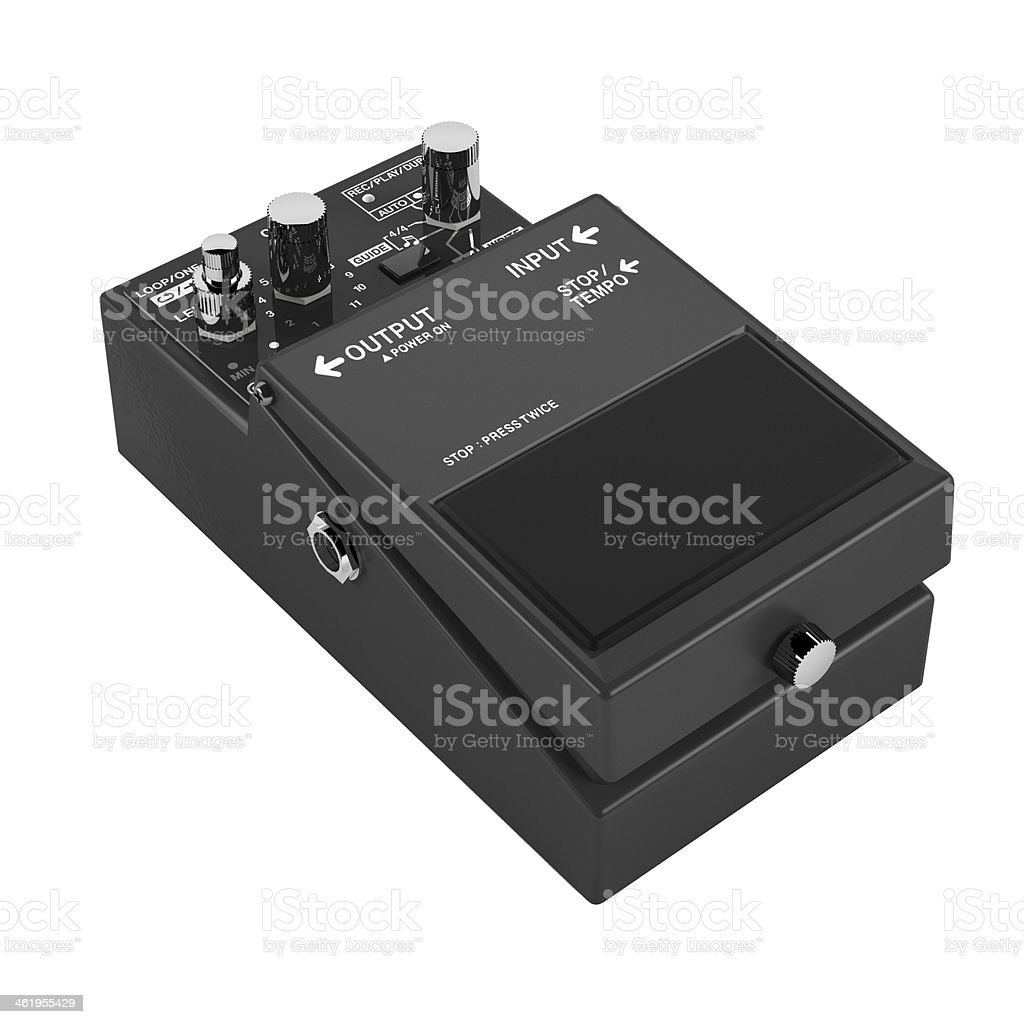 guitar pedal isolated stock photo