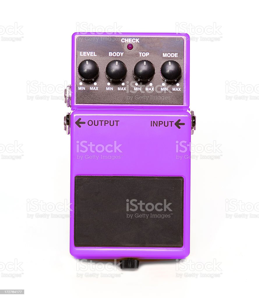 Guitar Pedal stock photo