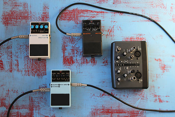 Guitar pedals and audio card for recording圖像檔