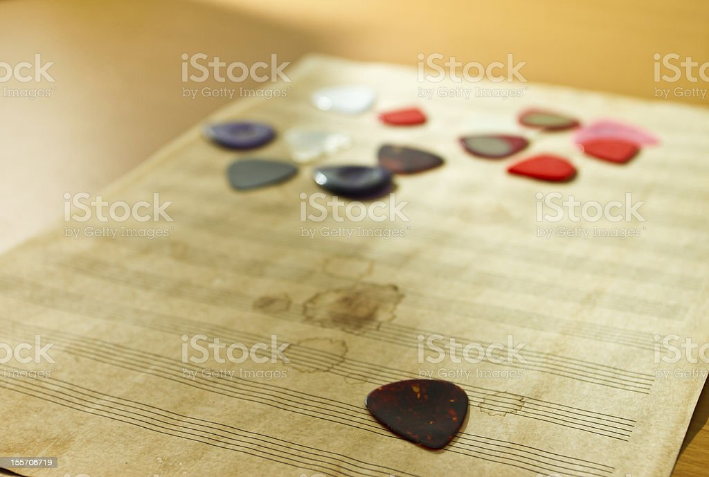 Guitar pick royalty-free stock photo