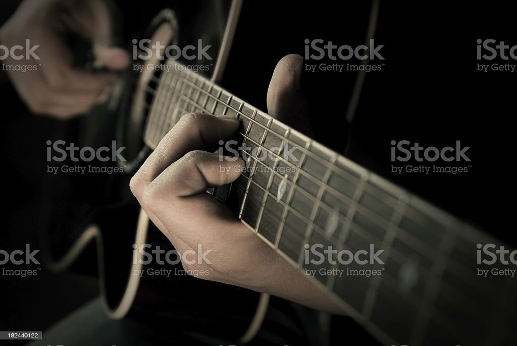 Guitare picking royalty-free stock photo