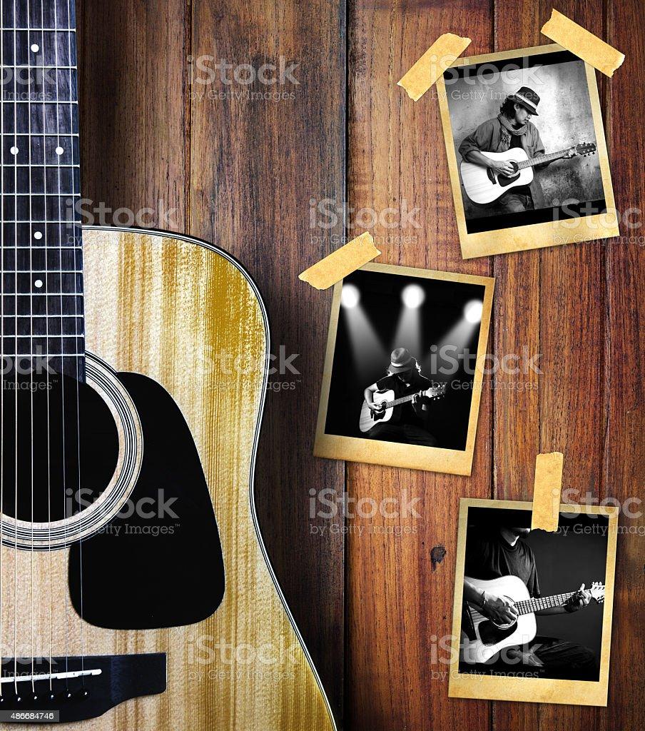Guitar player photo stock photo