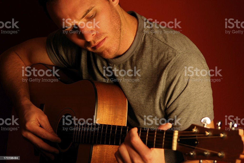 Guitar Player royalty-free stock photo