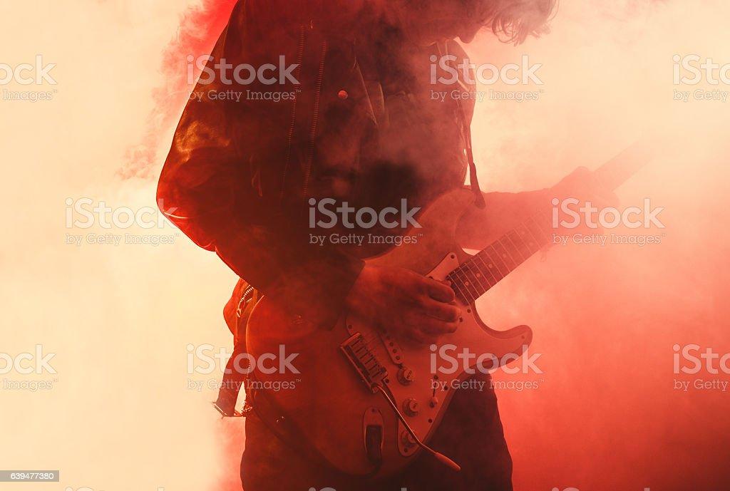 Jogador de guitarra - foto de acervo