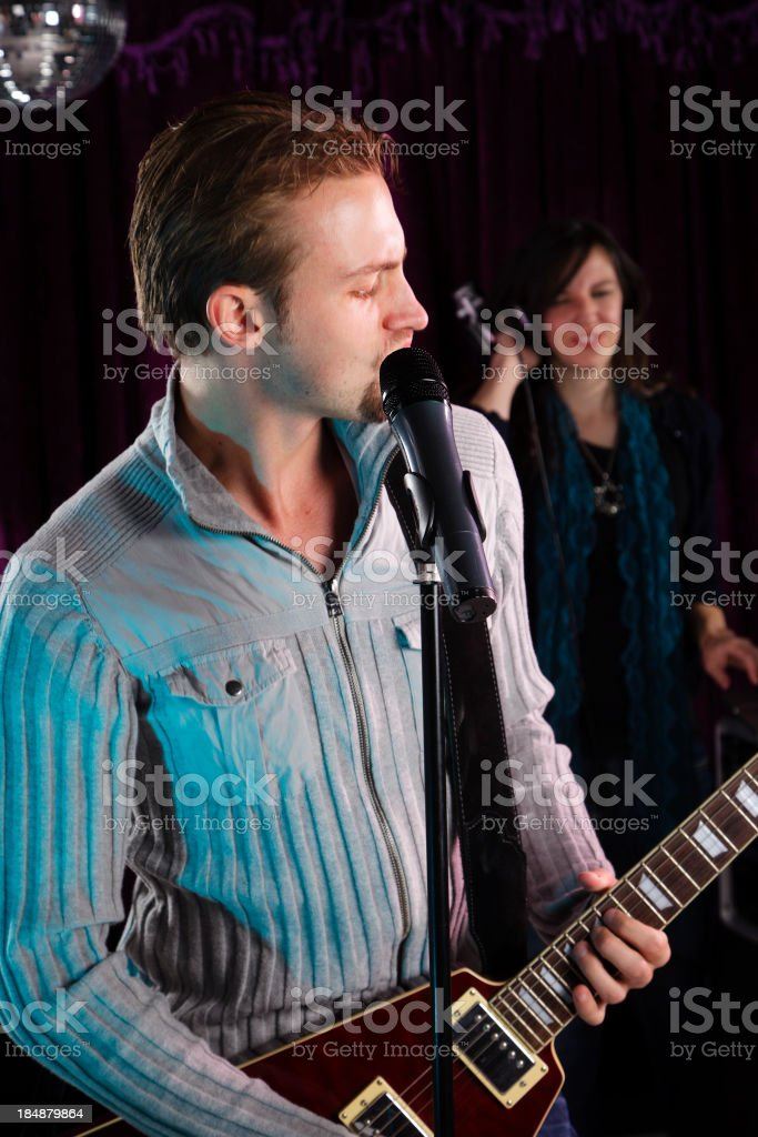 Guitar Playing Singer stock photo